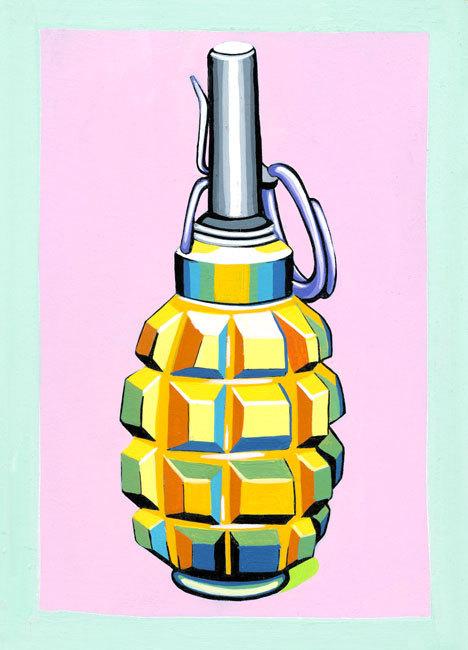F1 'Lemon' - Acrylic Ink on 8x 10 in. Illustration Board.