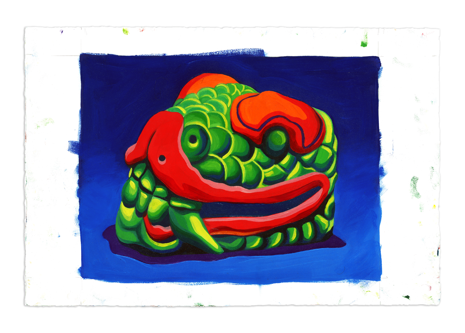 Quetzalcoatl - Oil at 12 x 16 in. on 22 x 15 in. BFK Rives
