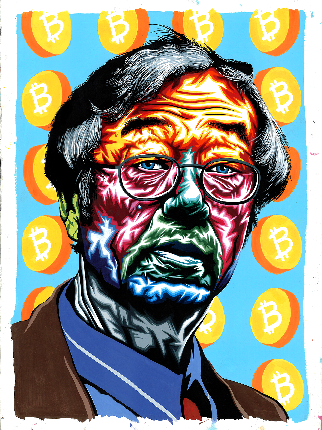 Fake Satoshi Portrait